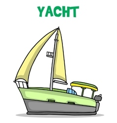 Collection of yacht transport art vector