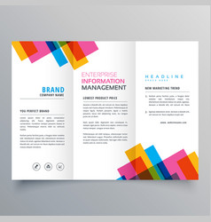 Colorful stripes business trifold brochure layour vector