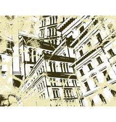 concrete cliff vector image