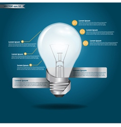 Creative Template with light bulb vector image vector image