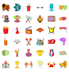 culture icons set cartoon style vector image