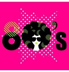 Disco 80s style dance party flyer vector