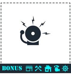 Fire alarm icon flat vector