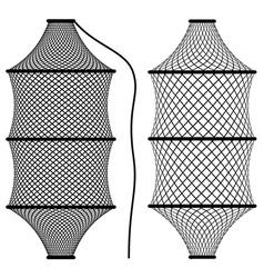 Fishing net coop trap fyke vector