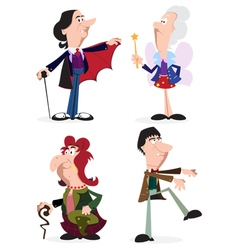 Halloween characters set vector image vector image