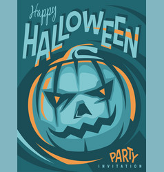halloween party artistic invitation design vector image vector image