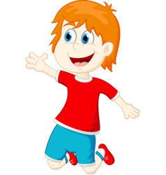 Happy kids cartoon vector