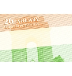 Indian republic day background vector