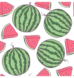 Juicy watermelon seamless pattern vector image vector image