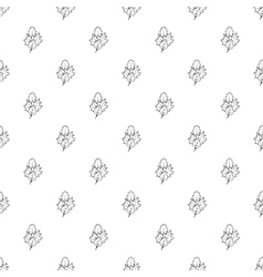Leaves pattern simple style vector image vector image