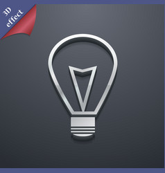 Light lamp icon symbol 3d style trendy modern vector