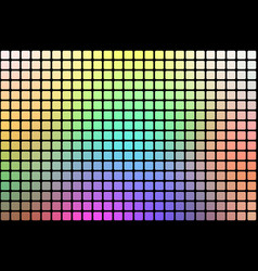 Light rainbow abstract rounded mosaic background vector
