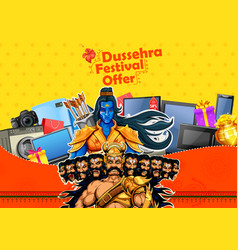 Lord rama and ravana for happy dussehra sale vector