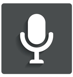 Microphone icon speaker symbol live music vector