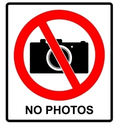 No photo camera sign isolated on white vector image vector image