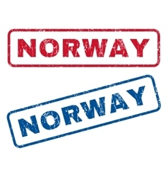 Norway rubber stamps vector