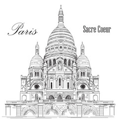 Sacre coeur hand drawing vector