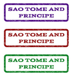 Sao tome and principe watermark stamp vector