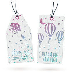 Set of hang tags vector