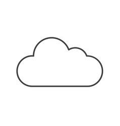thin line cloud icon vector image