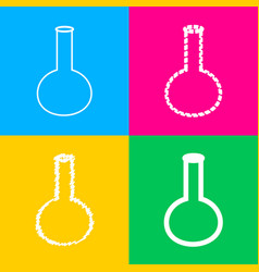 Tube laboratory glass sign four styles of icon vector