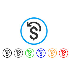 Undo payment rounded icon vector