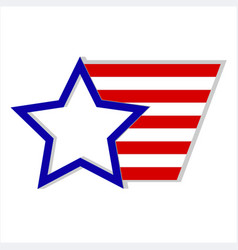 Usa flag logo symbol vector