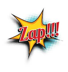 Zap comic word vector