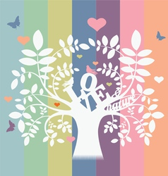 Love and nature tree vector