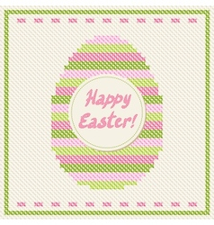 Happy easter embroidery vector