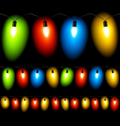 Christmas lights seamless vector image
