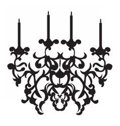 Baroque classic chandelier on white vector