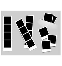 Photo frame white plastic border on a white vector