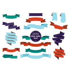 banners ribbons and badges set collection vector image