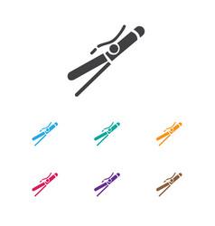 Of barber symbol on curler vector