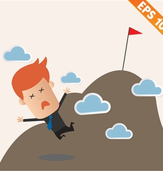 Business man fall from the top - - eps10 vector
