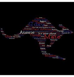Kangaroo made from Australian slang words in vector image