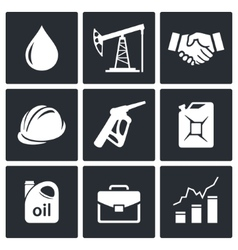 Petroleum industry icon collection vector