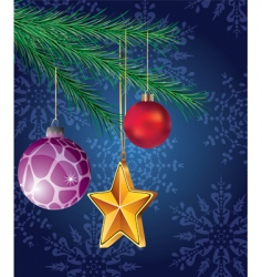 Christmas holiday decoration vector