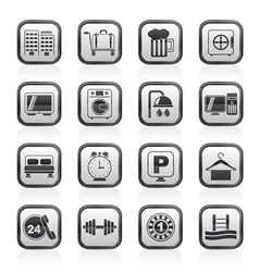 Hotel and motel icons vector