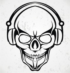 Tribal dj skulls vector