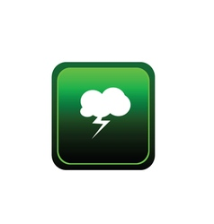 Button of cloud flash vector