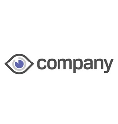 Eye diagnostic and vision logo vector