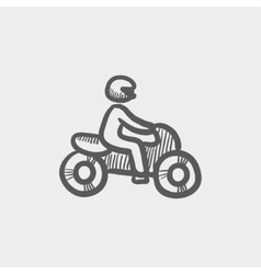 Motorbike sketch icon vector