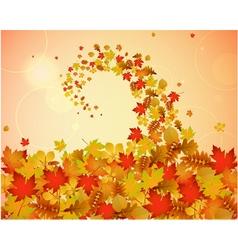 Abstract autumnal backgroun vector image