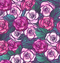 Old style roses seamless pattern vector