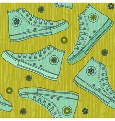 shoe wallpaper vector image