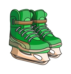 Doodle ice skates vector