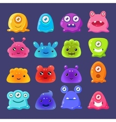 Little aliens collection vector