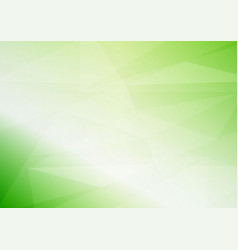 abstract light green triangular background with vector image vector image